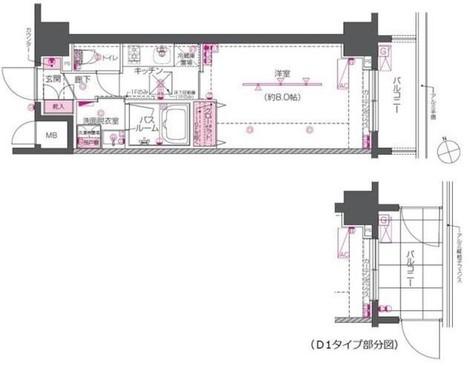 ZOOM戸越銀座 / 602 部屋画像1