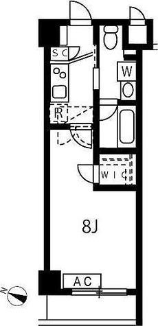 アジールコート池上 / 1K(25.84㎡) 部屋画像1