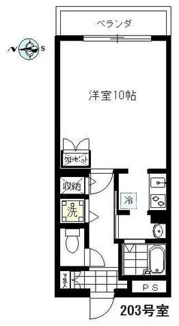 エムワン洗足 / 203 部屋画像1