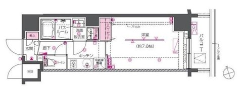 ZOOM戸越銀座 / 704 部屋画像1