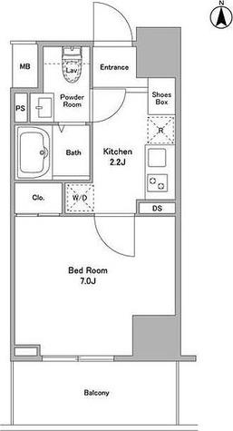リバーレ浅草ウエスト / 1K(24.76㎡) 部屋画像1