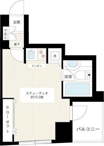 カスタリア新宿御苑 / ワンルーム(27.19㎡) 部屋画像1