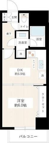 カスタリア新宿御苑 / 1DK(32.60㎡) 部屋画像1