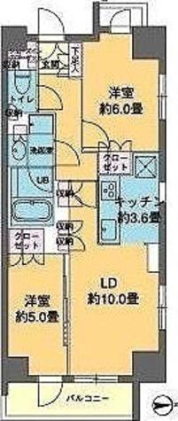 カスタリア東日本橋 / 2LDK(55.05㎡) 部屋画像1