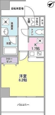 メゾンピオニ-都立大学 / 1K(28.08㎡) 部屋画像1