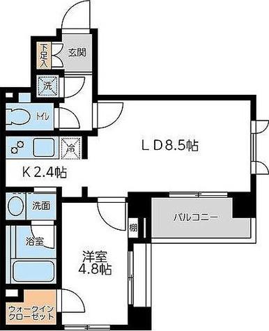 KWレジデンス若松町 / Eタイプ 部屋画像1