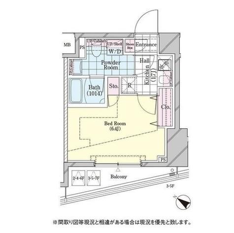 ディームス品川戸越 / 605 部屋画像1