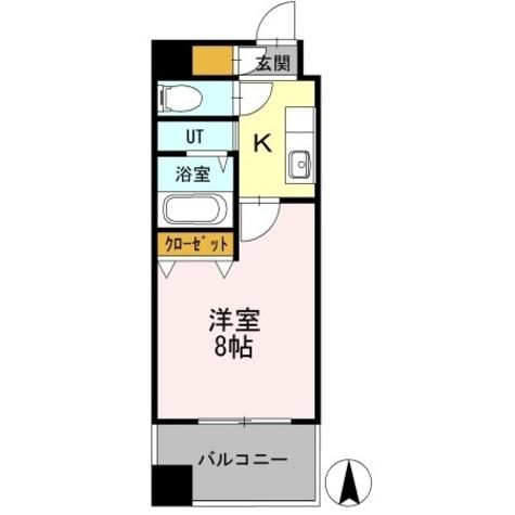 カスタリア名駅南 / 1K(24.65㎡) 部屋画像1