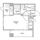 クレストパーク洗足池 / ワンルーム(24.99㎡) 部屋画像1