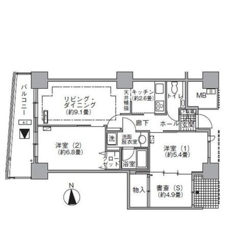 ラ・トゥール汐留 / 3213 部屋画像1
