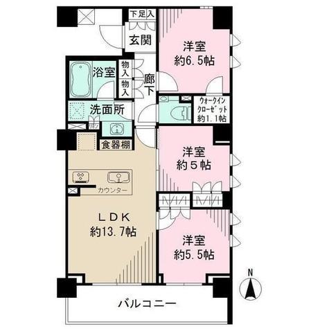 ザ・パークハウス柿の木坂 / 207 部屋画像1