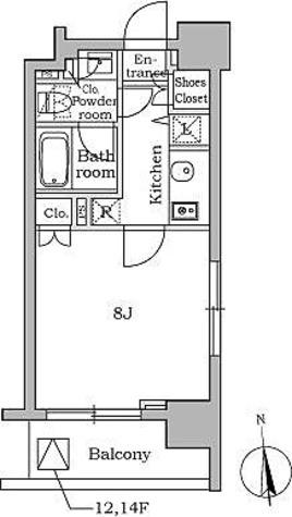 レジディア三軒茶屋 / Gタイプ(26.41㎡) 部屋画像1
