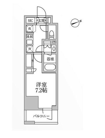レジディア新御徒町Ⅱ / A6-TYPE 部屋画像1