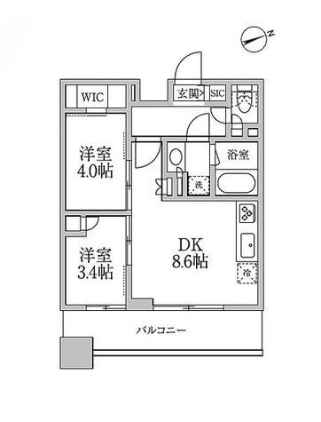 レジディア新御徒町Ⅱ / F2-TYPE(40.1㎡) 部屋画像1