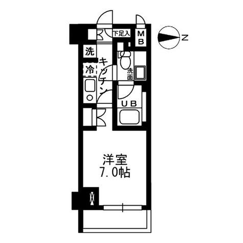 ウィスティリア高津 / 1K(22.78㎡) 部屋画像1