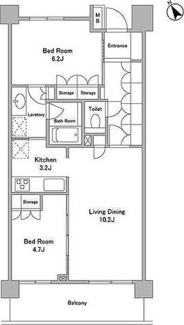 パークグレイス駒込 / 1階 部屋画像1