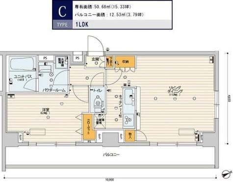 スカイコートパレス芝浦 / 706 部屋画像1