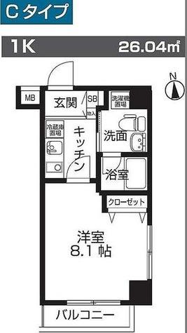 レオーネ板橋本町 / Cタイプ(26.04㎡) 部屋画像1