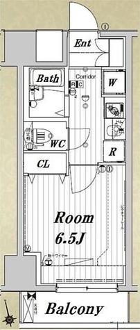 メイクスデザイン住吉IV / 1K(22.53㎡) 部屋画像1