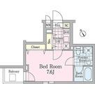 クロノガーデン神楽坂 / 1K(25.43㎡) 部屋画像1