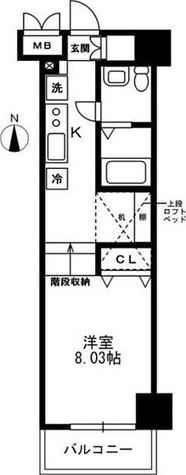 レジディア上野御徒町 / 1R(29.51㎡) 部屋画像1
