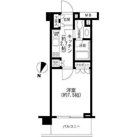 エル・グラシア都立大学 / 2階 部屋画像1