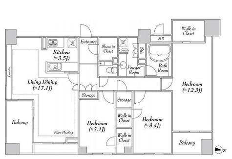 グレンパーク駒場EAST棟 / Aタイプ(116.14㎡) 部屋画像1