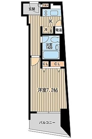 HF三田レジデンス(旧シングルレジデンス三田) / 1K(27.43㎡) 部屋画像1