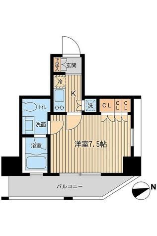 レジデンス大森(旧コンフォリア大森) / Cタイプ(25.16㎡) 部屋画像1