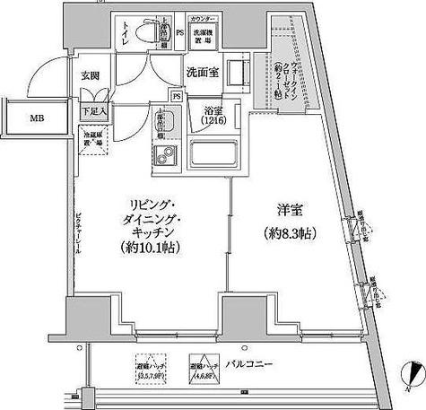 パークハビオ渋谷本町レジデンス / 1LDK(44.90㎡) 部屋画像1