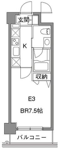 カスタリア中目黒(旧プラウドフラット中目黒) / 1K(24.69㎡) 部屋画像1