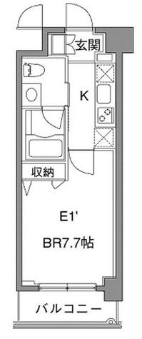 カスタリア中目黒(旧プラウドフラット中目黒) / 1K(25.61㎡) 部屋画像1