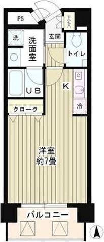 SUN恵比寿 / ワンルーム(26.78㎡) 部屋画像1
