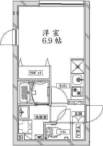 クールブラン大井町アネックス / 1階 部屋画像1