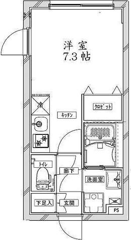 クールブラン大井町アネックス / ワンルーム(21.92㎡) 部屋画像1