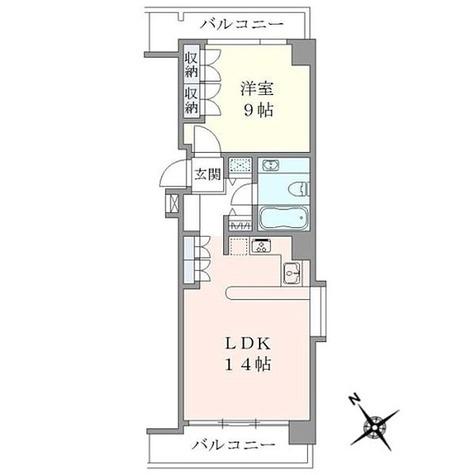 広尾イースト / 1LDK(51.49㎡) 部屋画像1