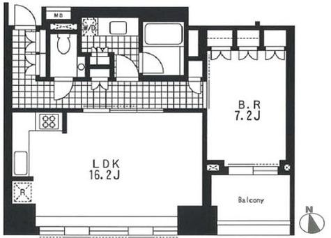 アパートメンツタワー麻布十番 / 1LDK60.54㎡ 部屋画像1