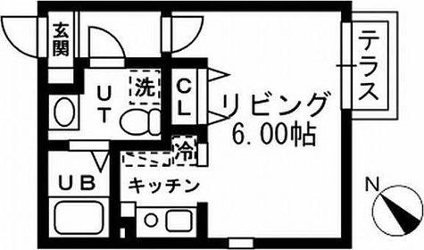 プライムアーバン洗足 / 1K(21.06㎡) 部屋画像1