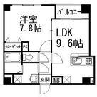 ヴェルデール白山 / 1LDK(39.77㎡) 部屋画像1