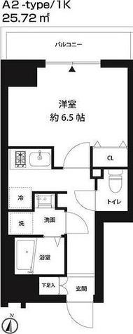 レオーネ錦糸町 / 1K(25.72㎡) 部屋画像1