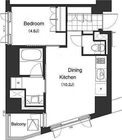 プライムアーバン本駒込( 旧アパートメンツ本駒込) / 1DK(40.43㎡) 部屋画像1