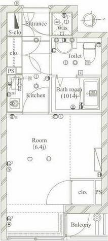 メイクスデザイン白金台 / 1K(22.18㎡) 部屋画像1