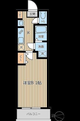 レオーネ両国 / 1K(25.99㎡) 部屋画像1