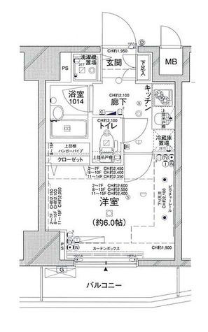 コンシェリア新橋(CONCIERIA新橋) / 1K(20.19㎡) 部屋画像1