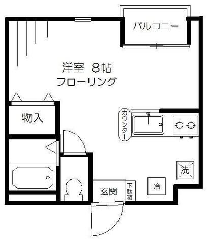 グレース西麻布 / 2階 部屋画像1