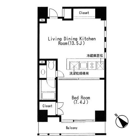 キャビンアリーナ赤坂 / 1LDK(43.49㎡) 部屋画像1