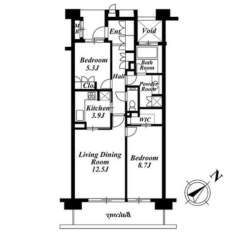 深沢ハウス Ⅰ / 2LDK(76.44㎡) 部屋画像1