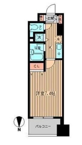 エルヴァージュ神田神保町 / 9階 部屋画像1
