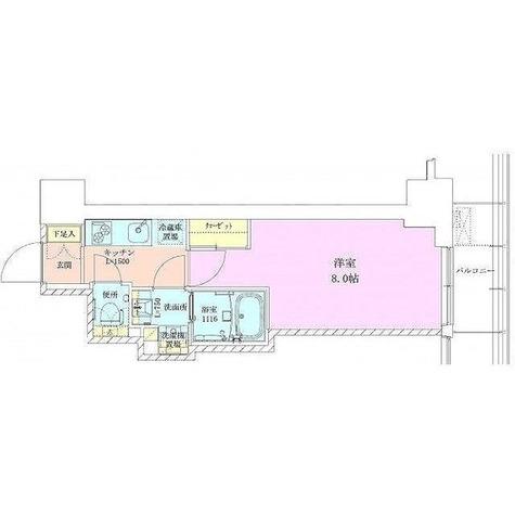 赤坂レジデンス 壱番館 / 1K(25.12㎡) 部屋画像1