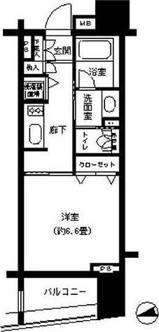 パークキューブ浅草田原町 / 1階 部屋画像1
